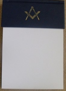 Masonic Note pad