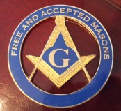 Masonic metal car badge